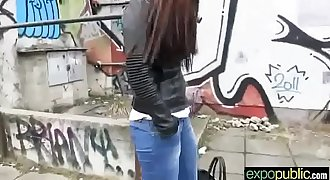 (victoria sweet) Cute Hot Euro Teen Horny Girl Banged Outside clip-20
