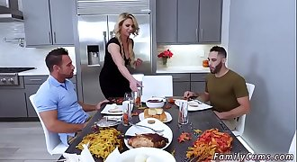Family strokes game night full scene and friend'_s daughter foot job