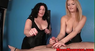 CBT masseuses dominate their clients dick